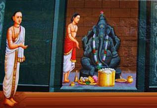 திருநாரையூரில் நம்பியாண்டார் நம்பிக்கு மணி மண்டபபணி